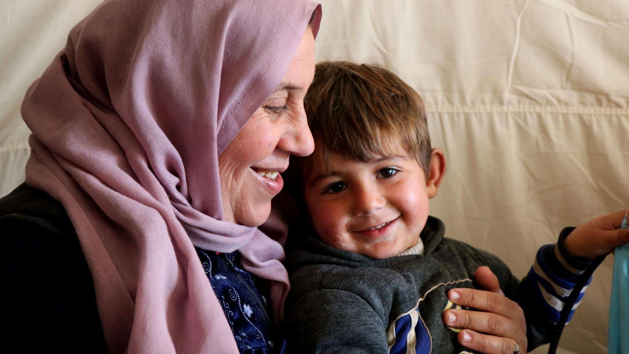 "Syrian mother, Jumana has noticed how the conflict has impacted her children's lives: ""even the games they play,"" she says."
